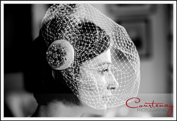 Bride in her veil at smedmore house