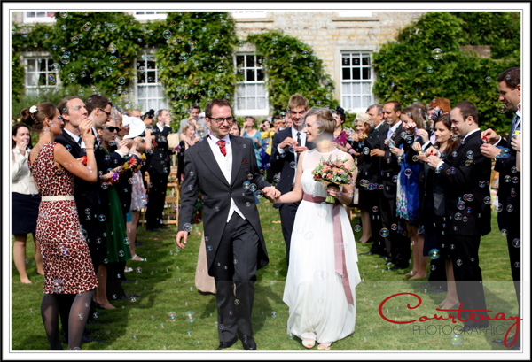 Bubble confetti at smedmore house wedding
