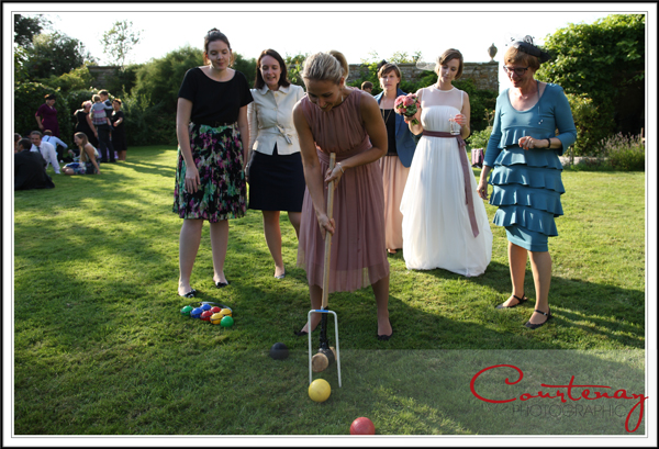 croquet on the lawn at smedmore house wedding