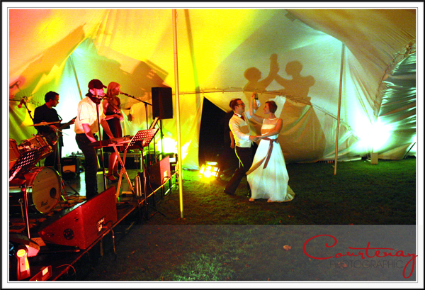 dancing in the marquee at smedmore house wedding
