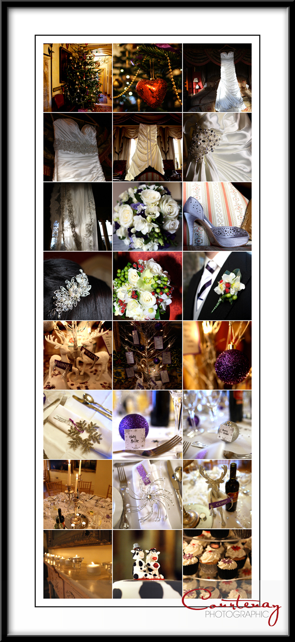Christmas wedding details photography somerset